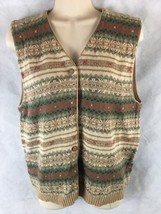 Woolrich Women's  Button Up Sweater Vest Size M Cotton Blend V Neck - $284,45 MXN