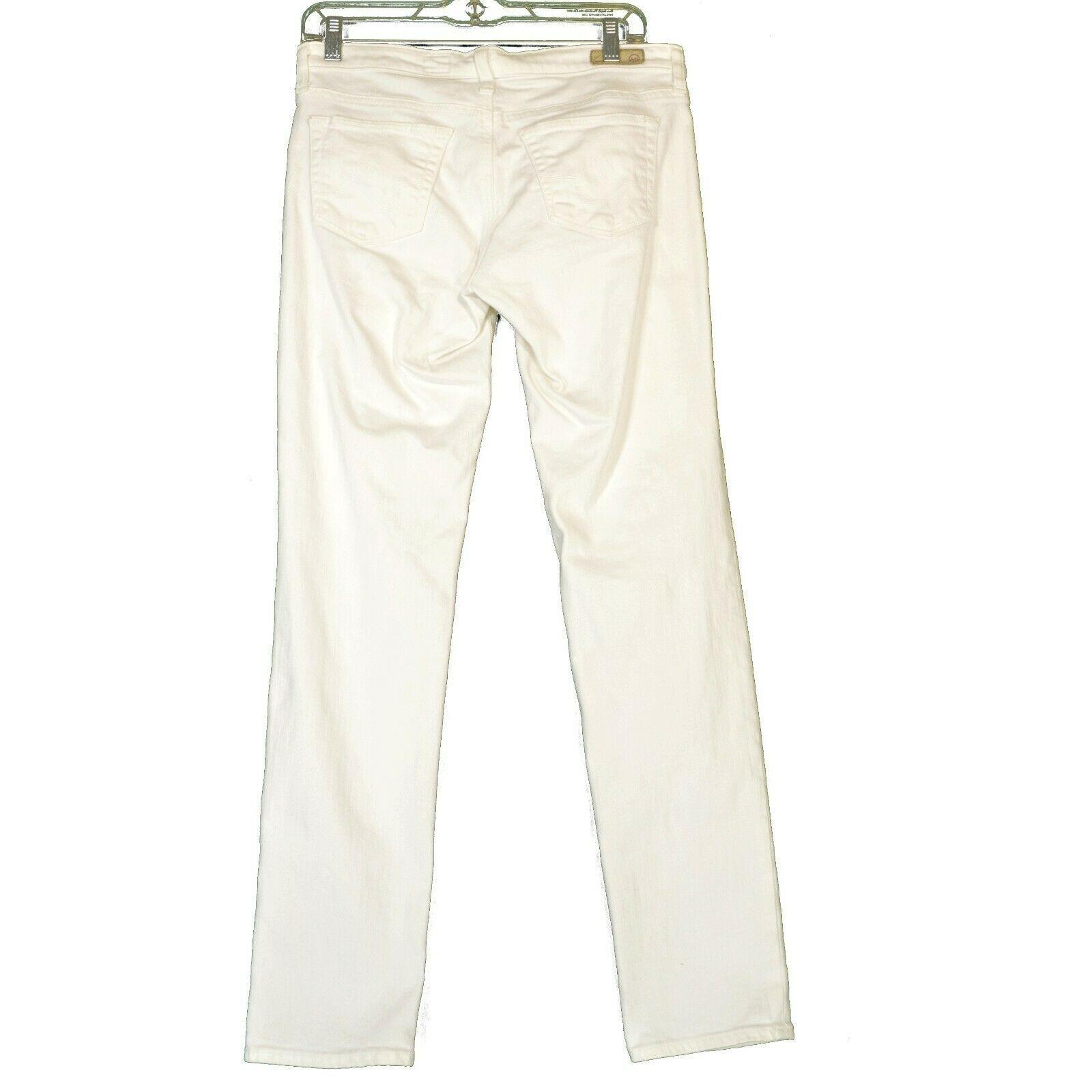 AG Adriano Goldschmied jeans 29 x 31 Stilt cigarette leg White thick EUCUSA image 9
