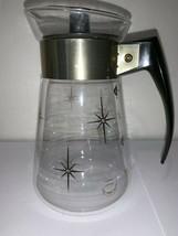 EUC MCM Atomic Starburst CorningWare Heat Proof Glass Coffee Pot Carafe ... - $15.88