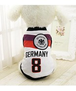 Dog Soccer Jersey – Germany World Cup Clothes Vest Shirt – For Small Med... - $5.89