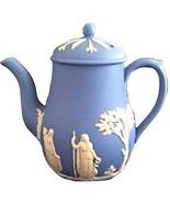 Wedgewood Blau Jasper Kaffee / Teekanne in England Hergestellt - $158.38