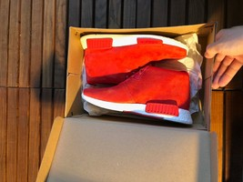 Adidas NMD Chukka Red Sneakers Size 40 - $162.97