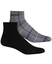 INC Womens 2 Pack Plaid & Solid Anklet Fashion Socks - NWT - $5.93
