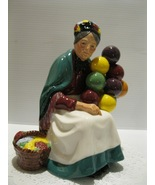 "ROYAL DOULTON figurine - THE OLD BALLOON SELLER - HN1315 - 7.5"" -in original box - $75.00"