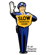 Police Man Crossing Guard School Crossing Laser Cut Out Reproduction Metal Sign - $69.30