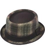 Henschel Wool Blend Porkpie Fedora Plaid Pattern Solid Band Burgundy Blu... - $43.00