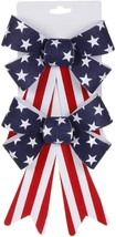 Darice Patriotic Decor - Small PVC Velvet Red White Blue 5 x 8-inch Bows - $8.95