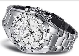 FIREFOX SKYWOLF stainless steel chronograph Seiko VD53 FFS200-101 silver... - $349.00