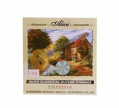 Backup Guitar Strings G-3rd Strings for Classical Guitars, 6 Pcs, Hard Tension