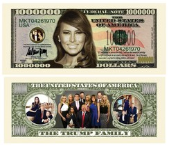 Trump First Lady Melania and Family Money Fake Million Dollar Bills Note... - $8.95