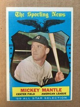 1959 Topps #564 Mickey Mantle Baseball Card NM Condition New York Yankee... - $249.99