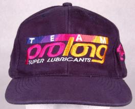 Vtg TEAM PROLONG RACING Hat-Super Lubricants-Strapback-Blue-Otto-Auto Ca... - $24.30