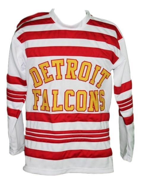 Larry aurie  6 detroit falcons custom retro hockey jersey   1