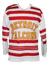 Custom Name # Detroit Falcons Retro Hockey Jersey New White Aurie #6 Any Size image 1