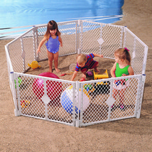 Pet Baby Playpen Infant Kids 6-Panel Superyard Portable Indoor Outdoor P... - $84.31
