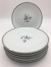 7 Vintage Noritake Margot Bread and Butter Plates 5605 Pink Roses Platinum Trim - $24.95