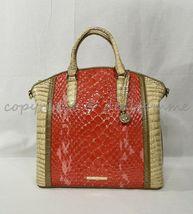 NWT Brahmin Large Duxbury Satchel/Shoulder Bag in Candy Apple Carlisle image 6