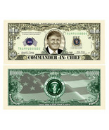 Pack of 25 - Donald Trump Presidential Novelty Dollar Bill Commander In ... - $9.85
