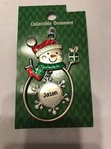 "Christmas Tree Ornament Snowman ""Justin"" Vintage Rare Ships N 24h - $11.86"