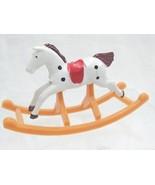 Dollhouse Miniature Nursery Furniture Childs Toy Rocking Horse Plastic V... - $8.90