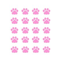 LiteMark 1 Inch Pink Cat Paw Prints - Pack of 60 - $19.95