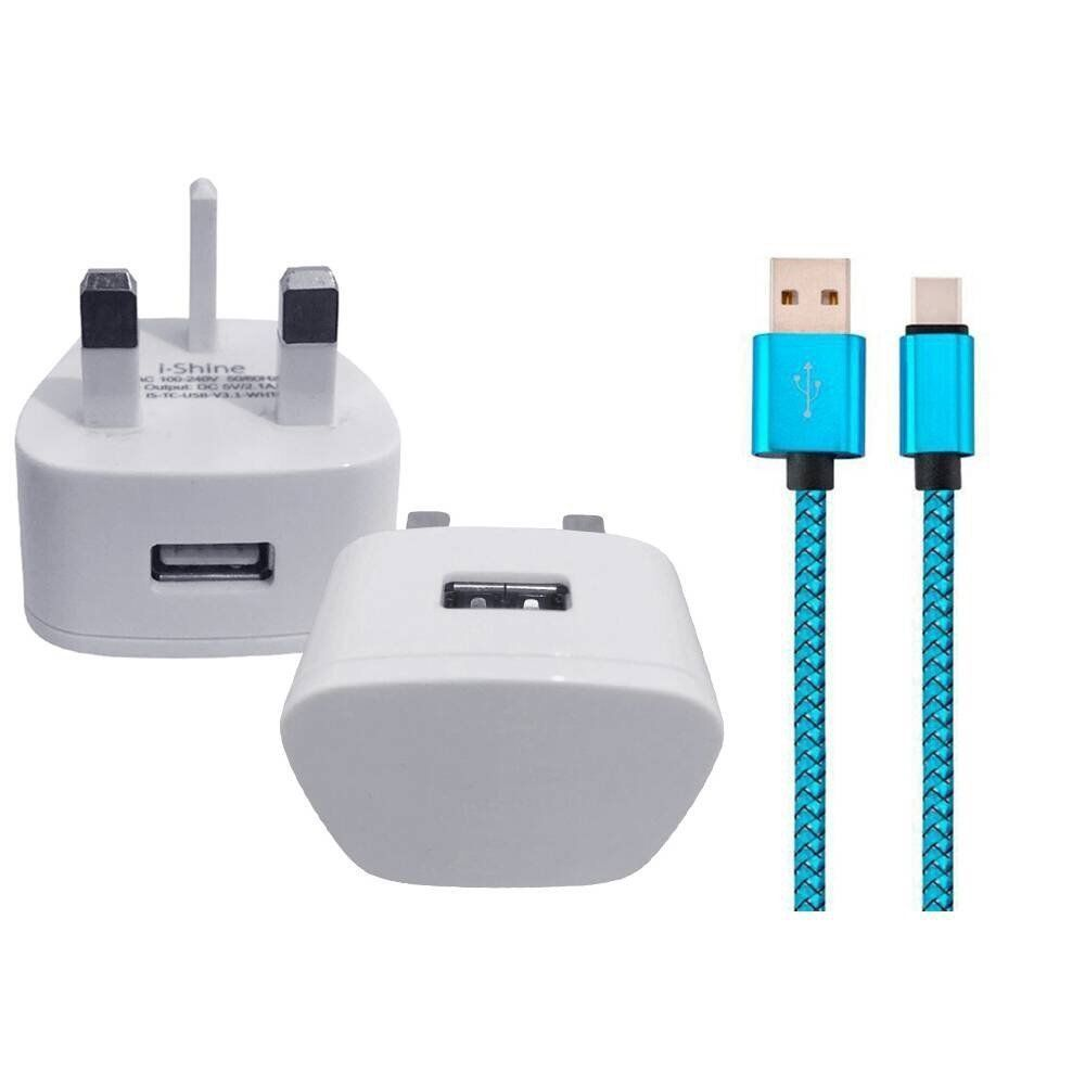 Nokia 6.1 Plus (Nokia X6)  REPLACEMENT WALL CHARGER & USB 3.1 DATA SYNC LEAD
