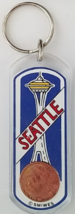 SEATTLE Space Needle Tower, 'A Penny Saved is a Penny Earned'  Keychain - $3.95