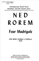 Four Madrigals (Piano Reduction/Vocal Score) - $2.25
