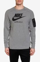 Nike Sportswear AirMax Crew Sweatshirt  Arm Pocket Gray Black NSW 886073... - $48.44