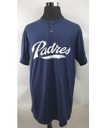 San Diego Padres Majestic Button T Shirt Blue Mens Size XL - $19.99