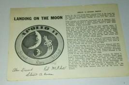 LANDING ON THE MOON APOLLO 14 DONATIONS POST CARD 1971 NASA KENNEDY SPAC... - $9.50