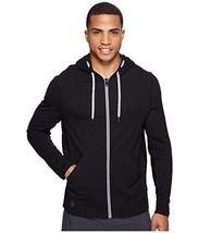 NWT $128 Mens Manduka Yoga Intentional Zip Hoodie Sweatshirt in Black sz S - $47.82