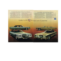 Vintage 1971 2-Page Magazine Ad Cadillac For 1971 The New Look Of Leadership - $5.93