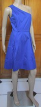 Jessica Simpson Blue One Shoulder Above Knee Pocket Dress NWT Size 12 - $28.91