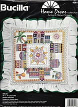 Bucilla Stamped Embroidery SALSA Pillow Kit - $7.92
