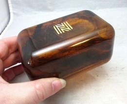 """Vintage amber plastic travel soap holder. Hotel logo """"N"""" - $9.99"""