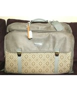 ❤️MURANO Olive Microsuede Tapestry Leather Travel Luggage Garment Bag NE... - $61.74
