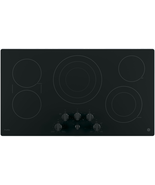 GE PP7036DJBB Profile 36 Inch Smoothtop Electric Cooktop in Black w/5 El... - $791.95