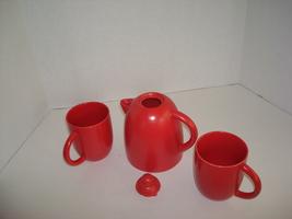 Rust-Colored Tea Set - $12.00