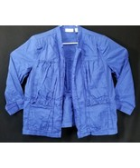 Chicos Blue Women's Open Front Blazer Long Sleeve Bonded Collar Size 3  - $21.25