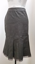 NWT Tahari Bramble Brown Linen/Rayon Fitted Skirt Size 10 - $38.61