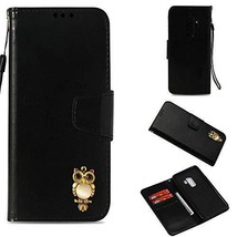 Galaxy S9 Plus Case,Gloryshop Bling Crystal Owl Wallet Cover Flip Folio ... - $7.91
