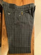 Armani Jeans Men's Black Checkered Jeans Size 34 / 32 Vintage Giorgio Armani - $247.45