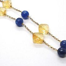 Silver 925 Necklace,Yellow,Quartz Citrine,Kyanite,Pendant Bunch image 4