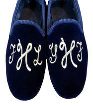Slippers Embroiered Loafer Velvet shoes men Custom New Men Initials Handmade 0Cnwwqpa