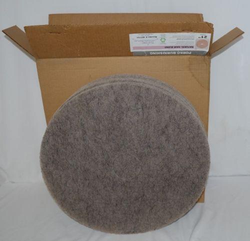 Tri Lateral Sales 401721 Porko Natural Hair Burnishing Pads 21 Inch 5 Pack