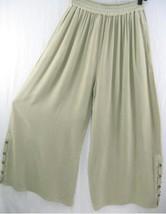TIENDA HO~Dusty Khaki~Woven~MOROCCAN COTTON~Palazzo Pants~DRAPE~WIDE LEG~OS - $69.99