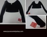Mossimo long sleeved crop top black web collage thumb155 crop