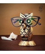 Eximious India Owl Spectacle Holder Wooden Eyeglass Stand Handmade Displ... - $16.07