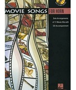 Hal Leonard Movie Songs for Horn 11 Solo Arrangements CD Accompaniment M... - $10.36